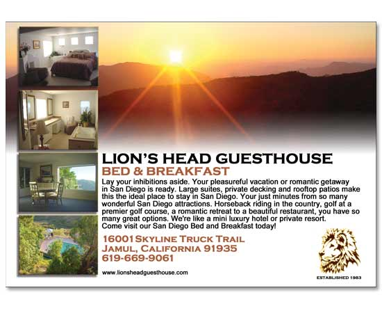 Lion Head Guesthouse Ad